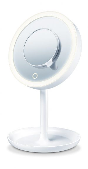Illuminated cosmetics mirror-0